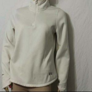 Under Armour Storm Semi-fitted Off-White Pullover